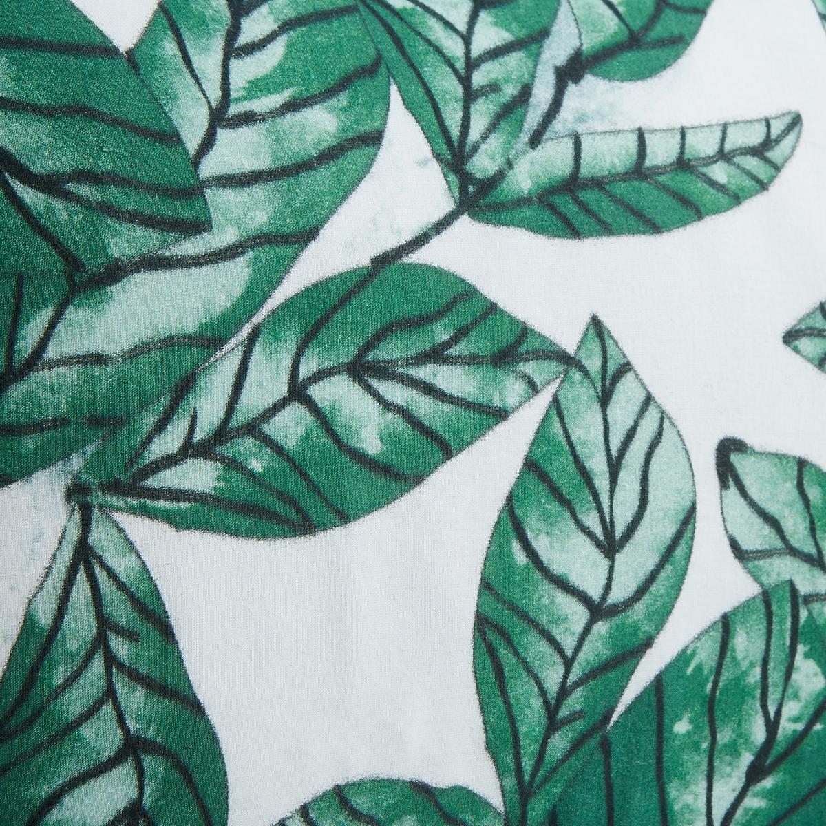 Наволочка на подушку-валик MalibasНаволочка на подушку-валик Malibas с рисунком листья зеленого цвета на фоне цвета экрю с обеих сторон. Скрытая застежка на молнию.Материал :- 100% хлопковая вуаль, полностью на подкладке из хлопка.  Размеры :- 50 x 30 см.Подушка продается отдельно на сайте.<br><br>Цвет: зеленый