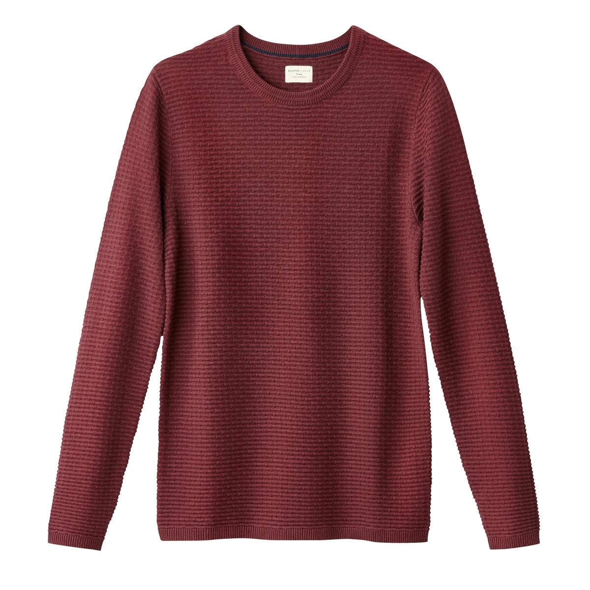 Пуловер из тонкого трикотажаДетали  •  Длинные рукава  •  Круглый вырез •  Тонкий трикотаж Состав и уход  •  100% хлопок  •  Следуйте советам по уходу, указанным на этикетке<br><br>Цвет: красный/ бордовый<br>Размер: L