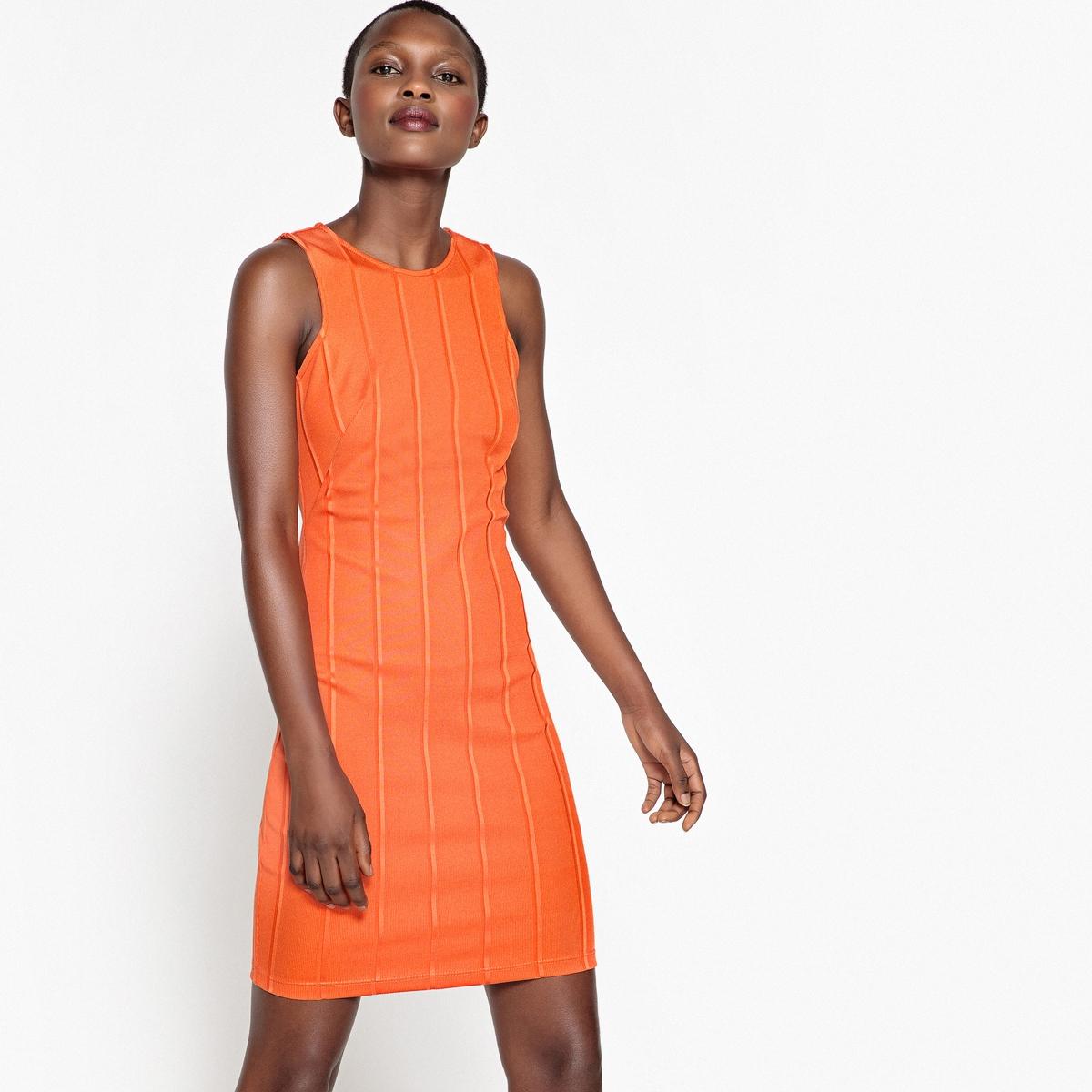 Платье облегающее однотонное короткое, без рукавов платье облегающее короткое однотонное с длинными рукавами