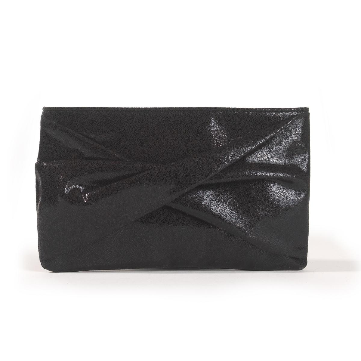 Сумка-клатчСумка-клатч. Оригинальная сумка, красивая отделка спереди. Съемная цепочка.  Застежка на магнит. 1 внутренний карман для мобильного.Состав и описание :Материал : Верх из синтетического материала.Подкладка : полиэстер..Размеры :  24 x 15 см.Марка : Anne Weyburn.<br><br>Цвет: черный