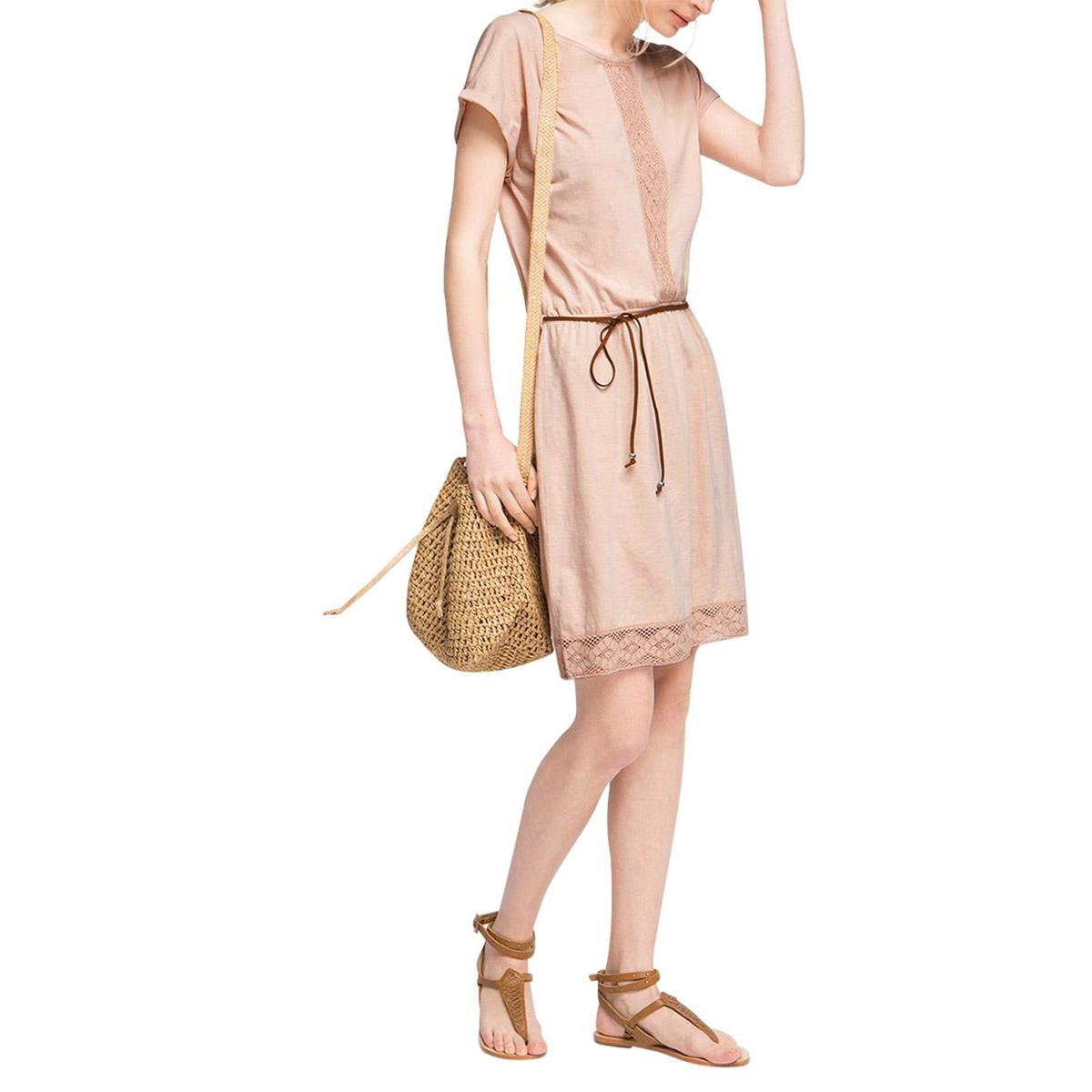 Платье из джерси ESPRITСостав и описание :Материал : 100% хлопкаМарка : ESPRIT.<br><br>Цвет: розовая пудра<br>Размер: L