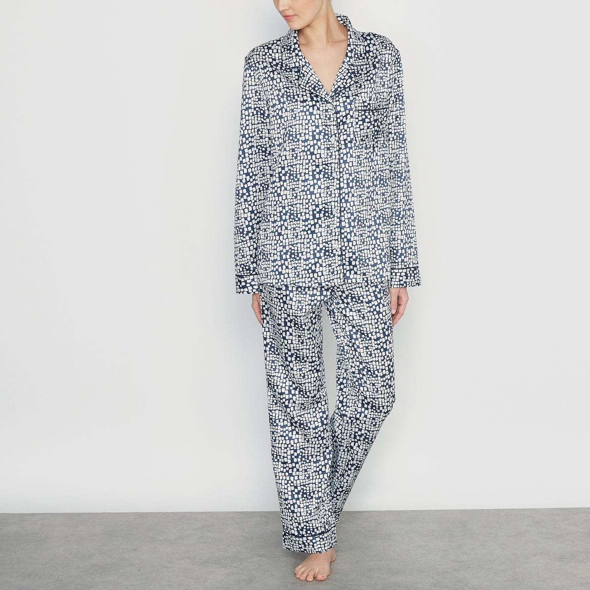 Пижама из сатина с рисунком