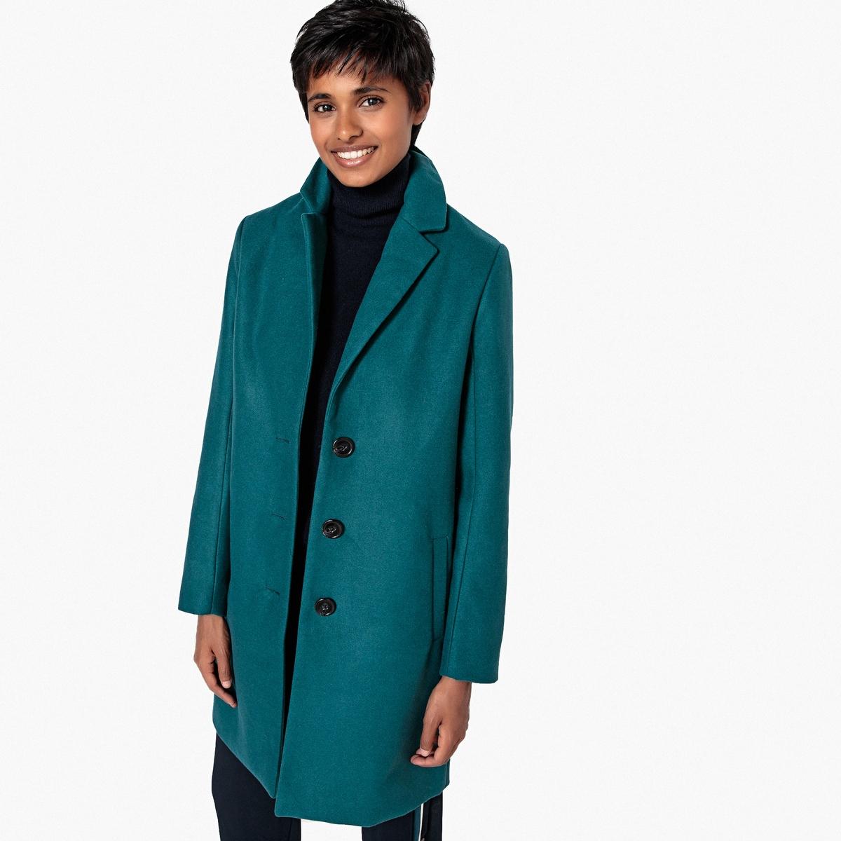 Пальто La Redoute Легкое средней длины 48 (FR) - 54 (RUS) зеленый