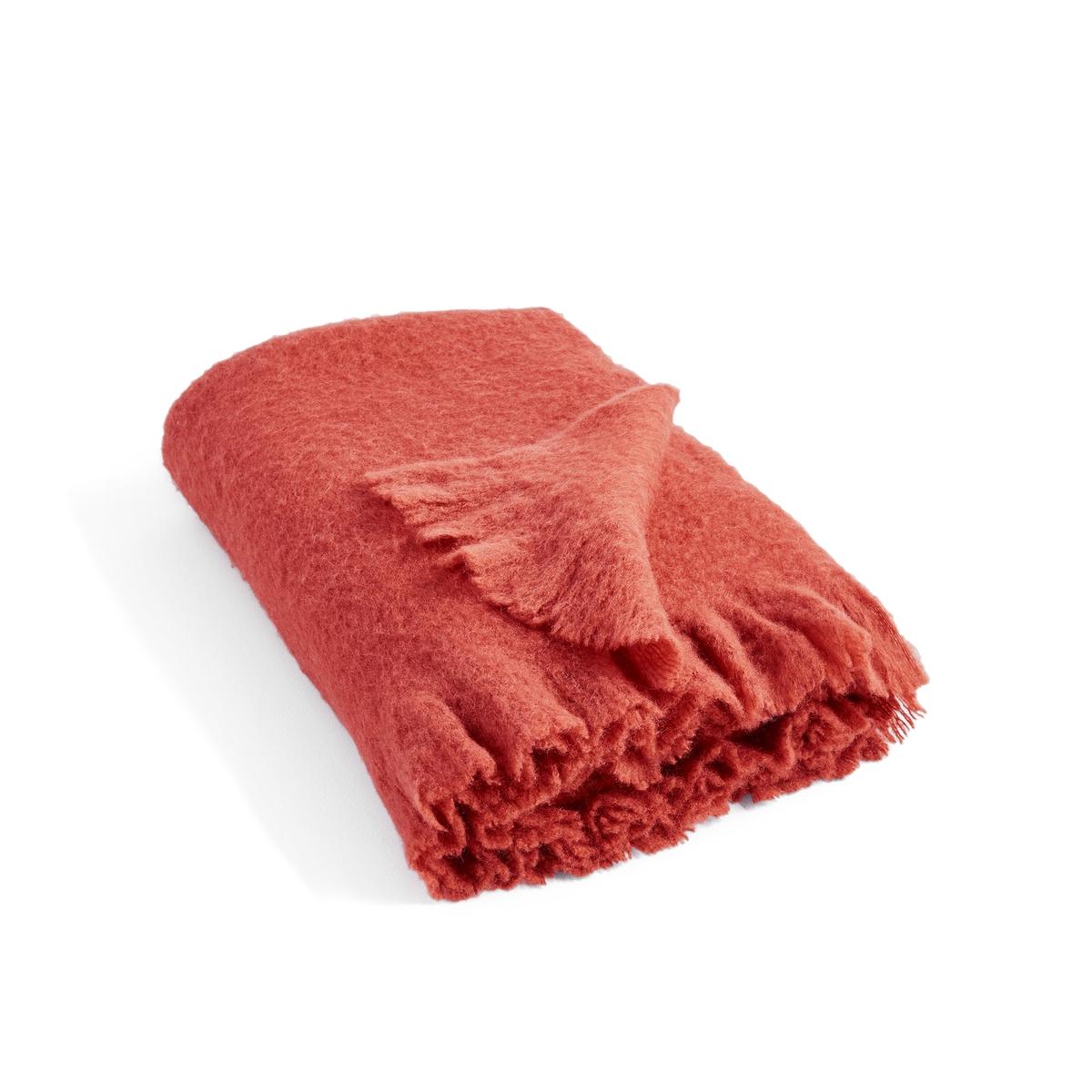 цена на Плед La Redoute Однотонный Naruna 130 x 170 см красный
