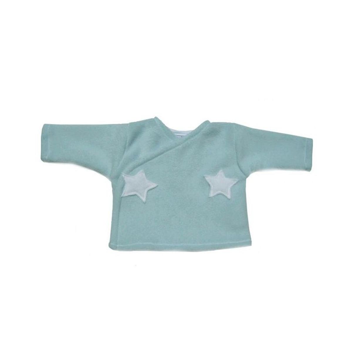 Brassière polaire bleu, étoiles, taille prématuré
