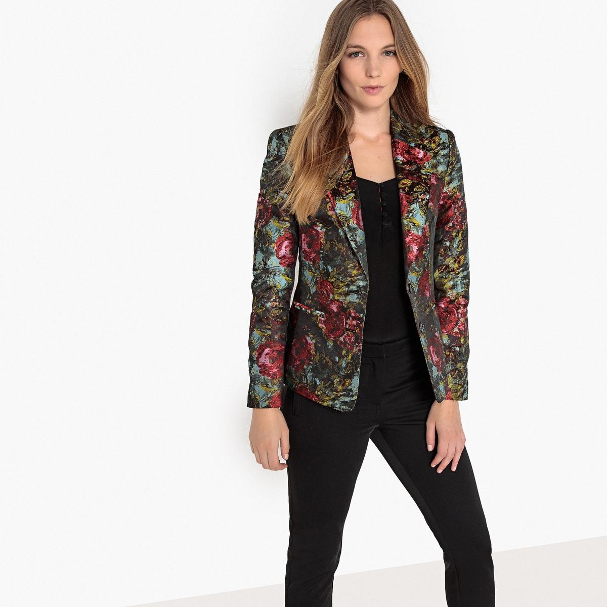 Куртка-блейзер жаккардовая с цветочным рисунком La Redoute Collections