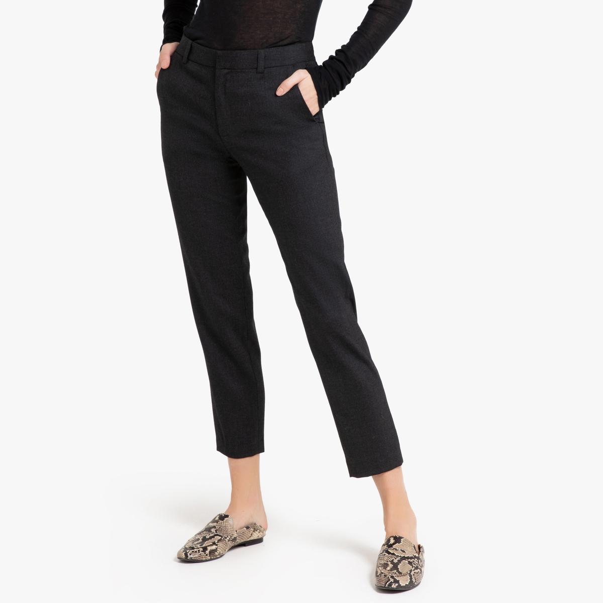 Брюки La Redoute Зауженные ADELE 40 (FR) - 46 (RUS) серый брюки la redoute узкие дудочки с жаккардовым рисунком 50 fr 56 rus черный