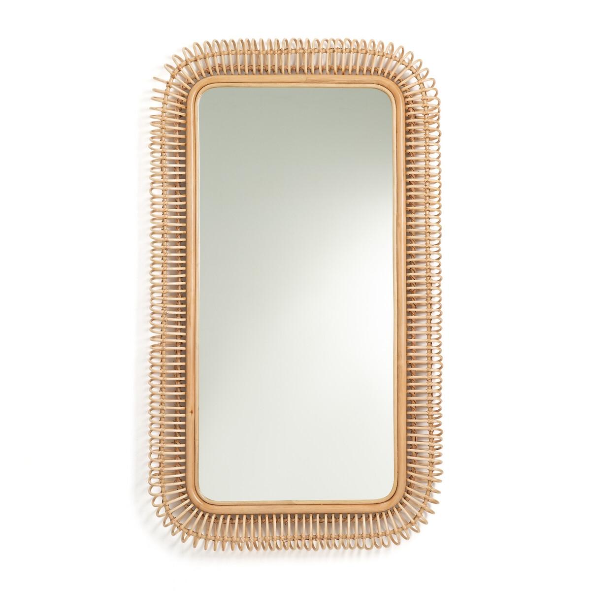 Зеркало LaRedoute Из ротанга В140 Tarsile единый размер бежевый