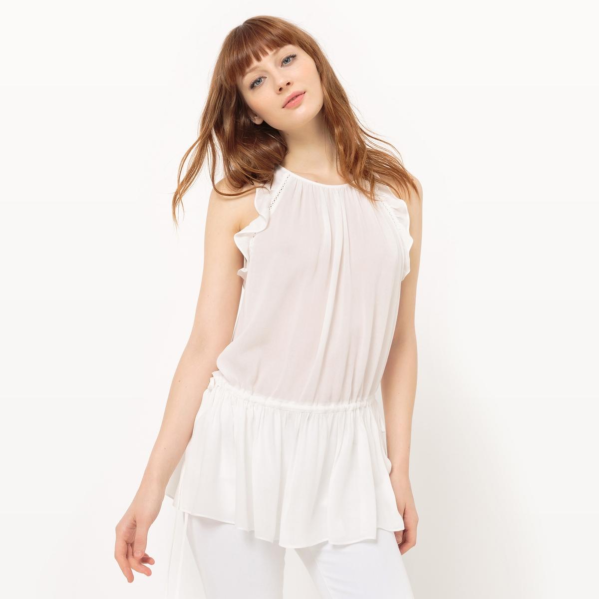 Блузка длинная без рукавов