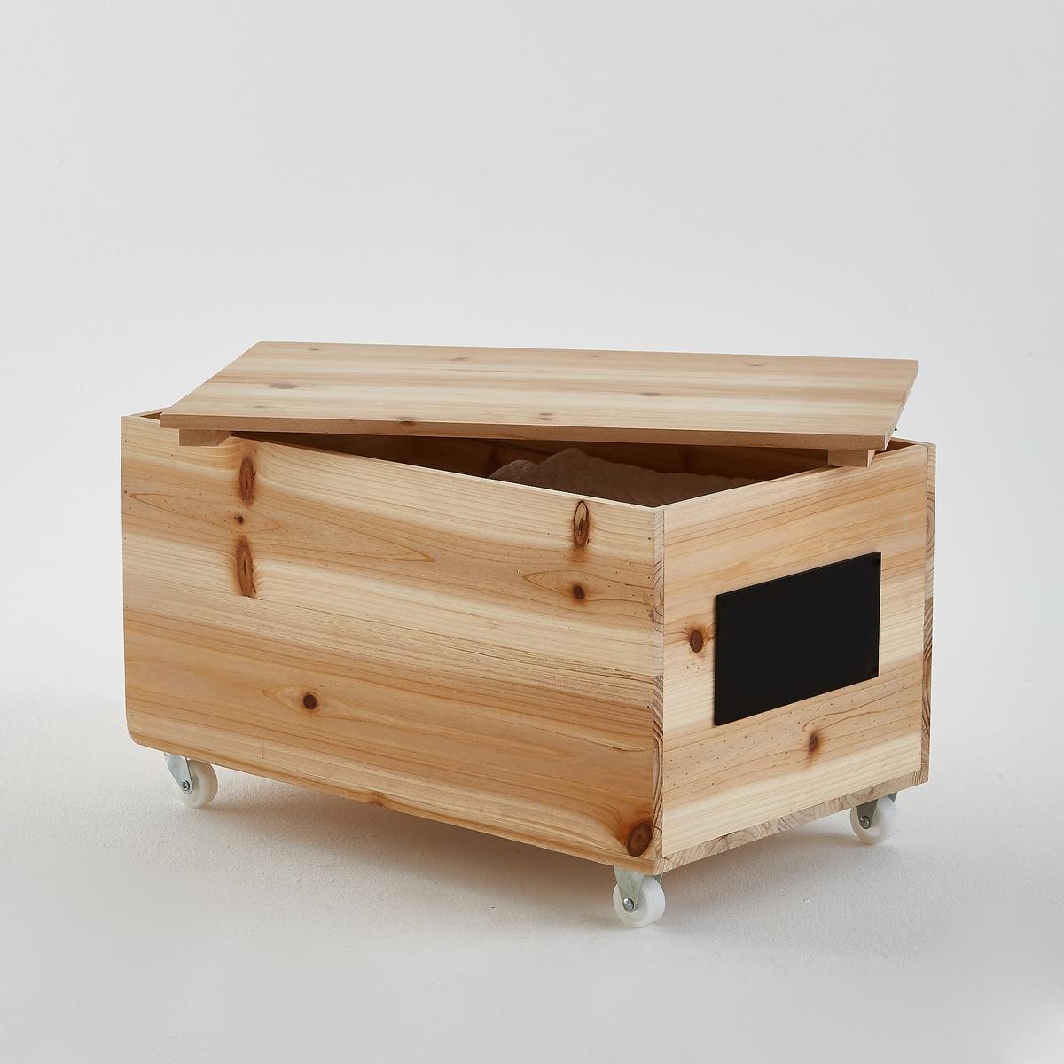 Ящик для вещей на колесахЯщик для вещей на колесах . Ящик в винтажном стиле для хранения вещей, с декоративной отделкой, его можно перемещать, куда вам захочется.Характеристики ящика для вещей на колесах :Ель с натуральной отделкой, толщ.. 12 мм .Доска темного цвета.- С крышкой.Найдите все ящики для вещей на сайте laredoute.ruРазмеры ящика для вещей на колесах :Общие :Ширина 57 смГлубина 35 см.Высота 34 см .Доска темного цвета: 20 x 10 см .<br><br>Цвет: серо-бежевый<br>Размер: единый размер