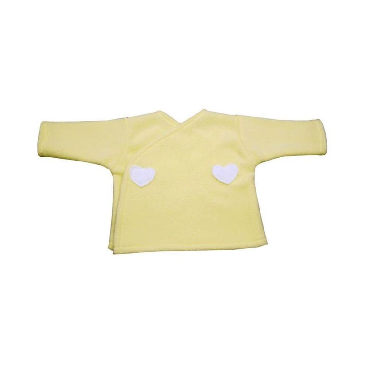 Brassière bébé jaune, polaire