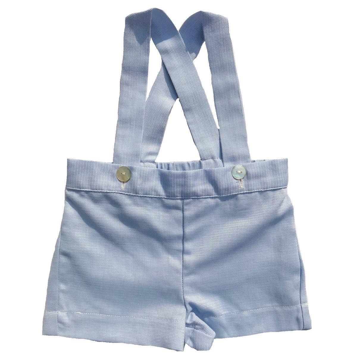 Culotte courte à bretelles en coton CLINT