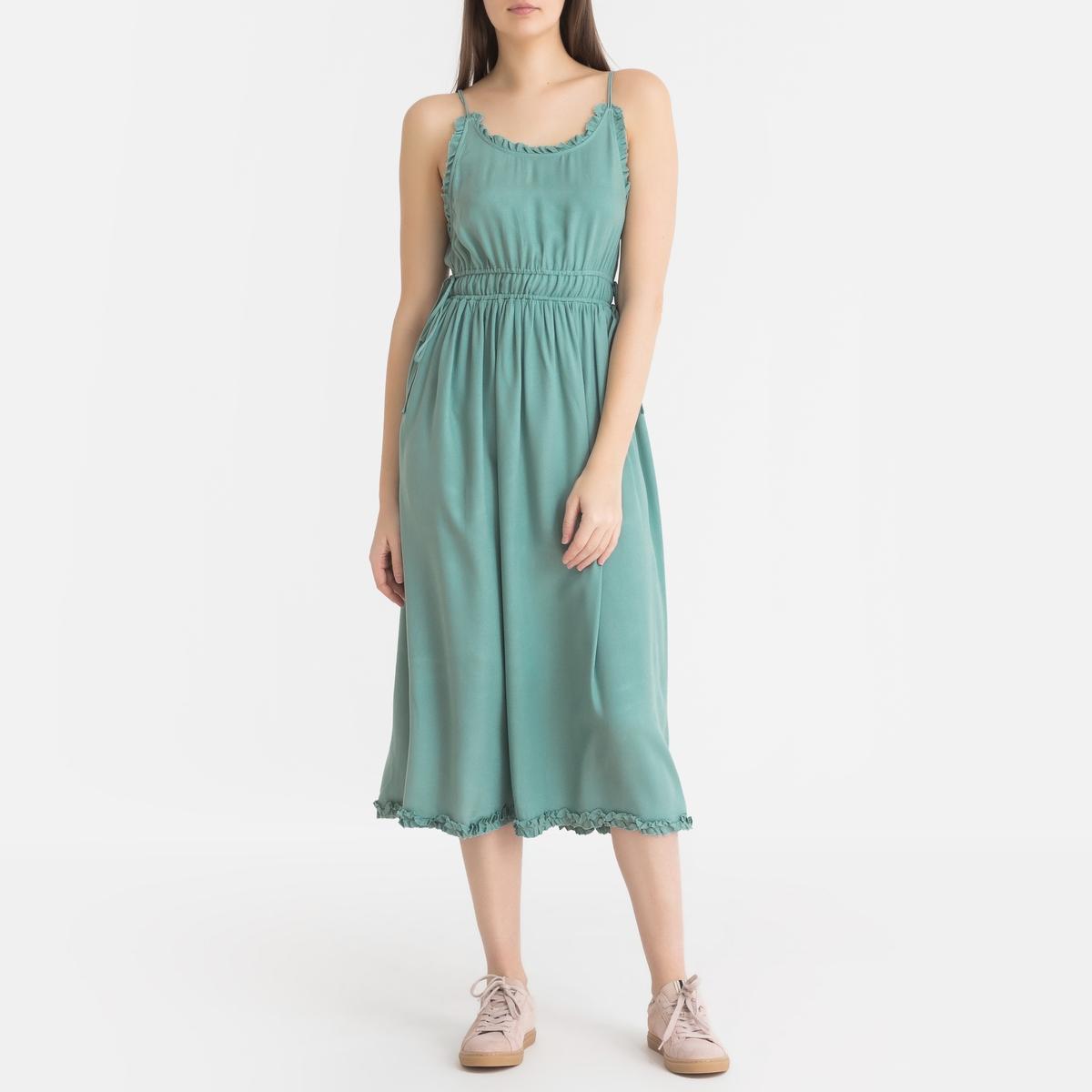 Платье LaRedoute Средней длины расклешенное M синий