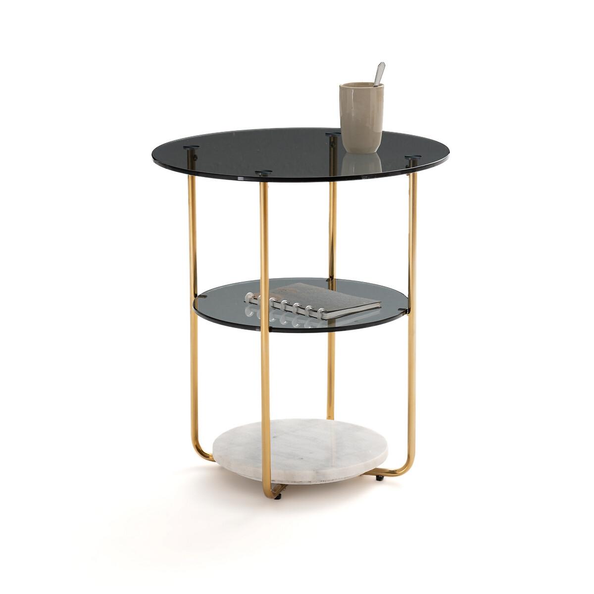 Столик LaRedoute Для изголовья с 3 столешницами Moricio единый размер желтый