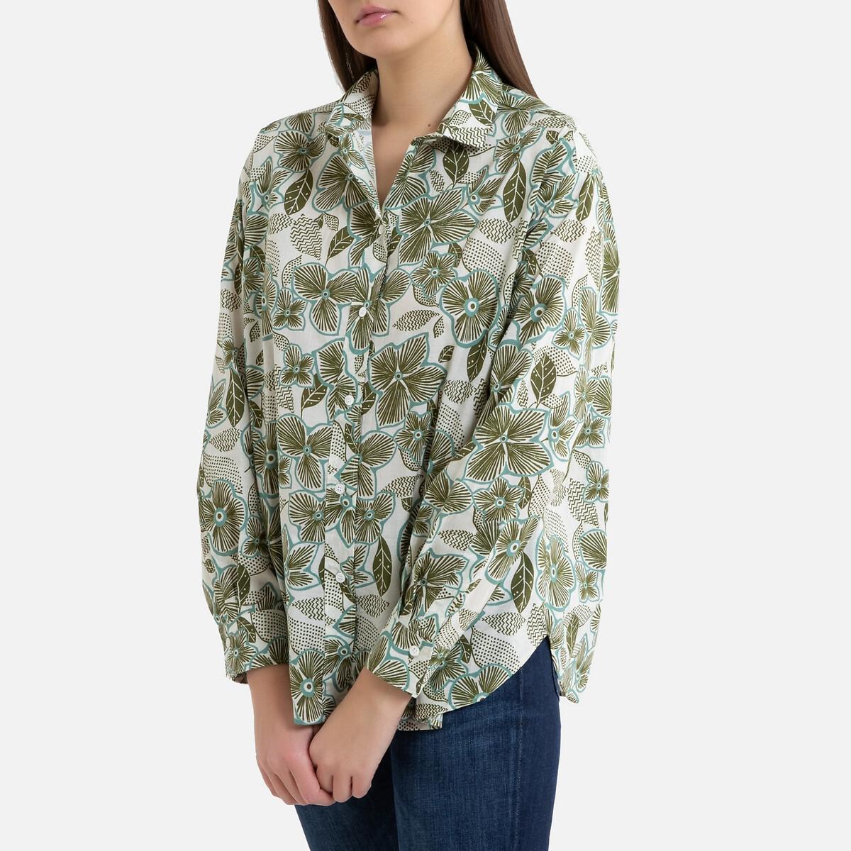 Рубашка LaRedoute С принтом и длинными рукавами CHARLOT 2(M) разноцветный фото