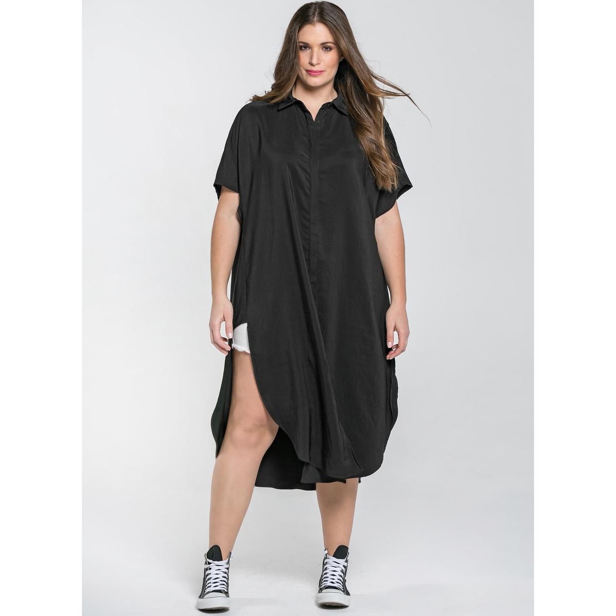 купить Платье длинное расклешенное с короткими рукавами по цене 5919.2 рублей