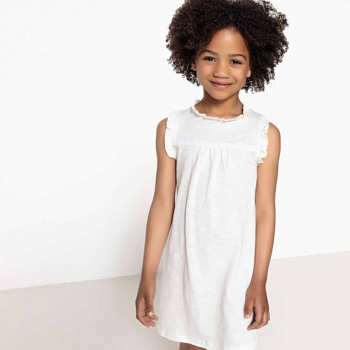 Платье La Redoute Без рукавов с вышивкой 5 лет - 108 см бежевый комбинезон la redoute с вышивкой без рукавов m черный