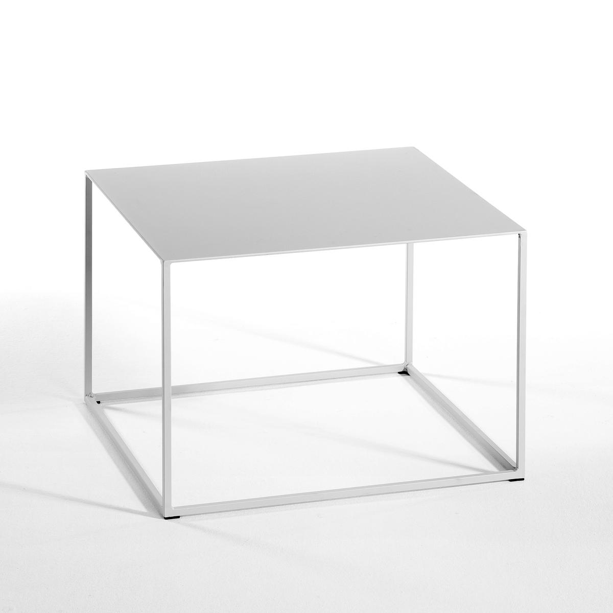 Столик Romy, квадратныйОписание :   Из лакированного металла .Размеры : - 50 x 35 x 50 см .<br><br>Цвет: серый