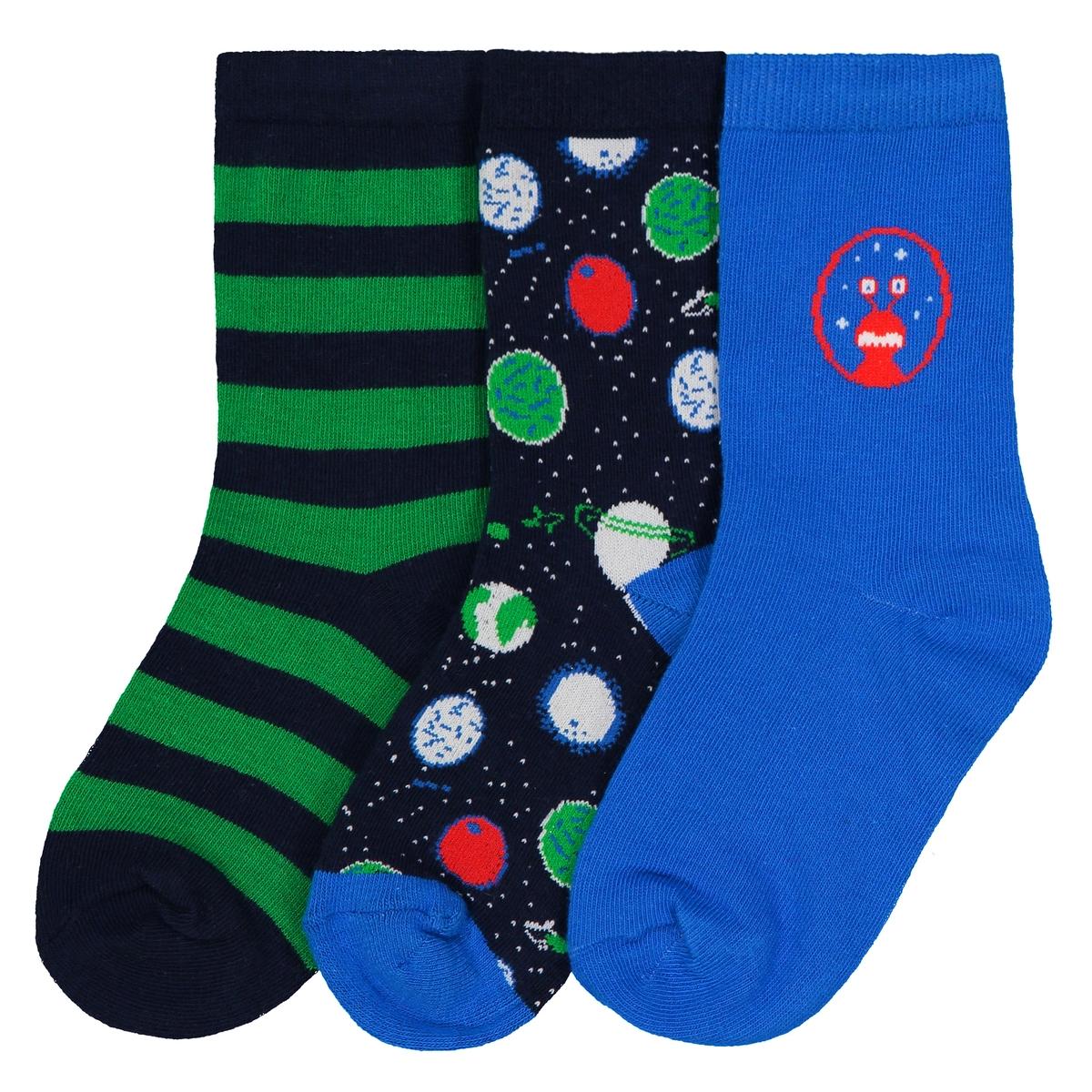 Комплект из 3 пар носков высоких, 23/26-35/38 jd коллекция светло телесный 12 пар носков 15d две кости размер