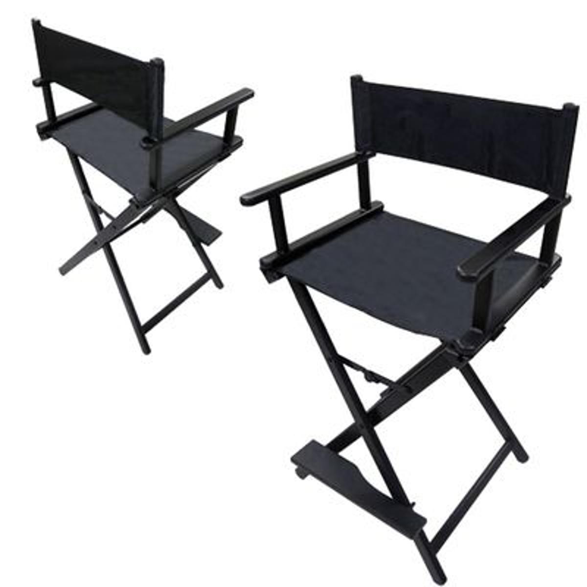Chaise haute maquilleur Alu Noire