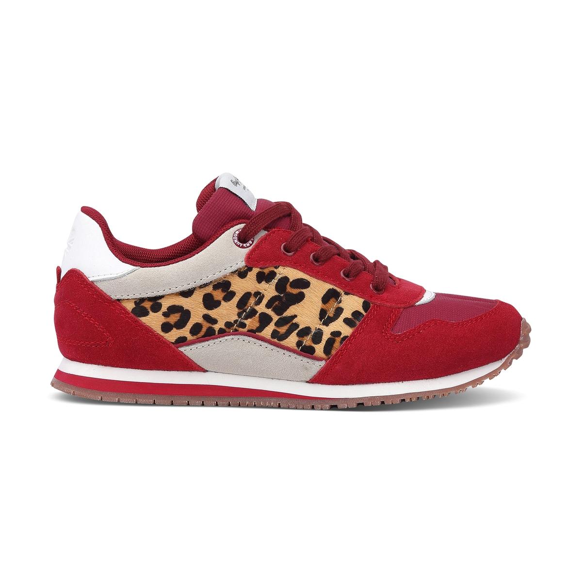 Кеды Sydney Basic GirlДетали •  Спортивный стиль •  Плоский каблук •  Застежка : шнуровкаСостав и уход •  Верх 20% полиэстера, 40% замши, 40% яловичной кожи •  Подкладка 100% полиэстер<br><br>Цвет: красный