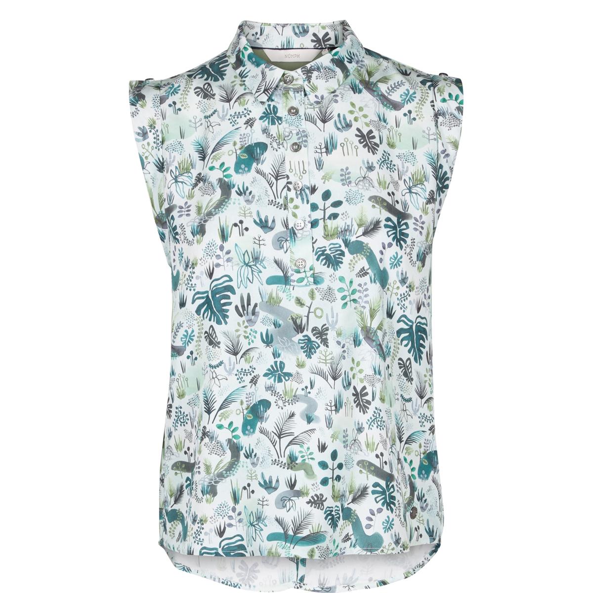 Рубашка без рукавов с рисунком
