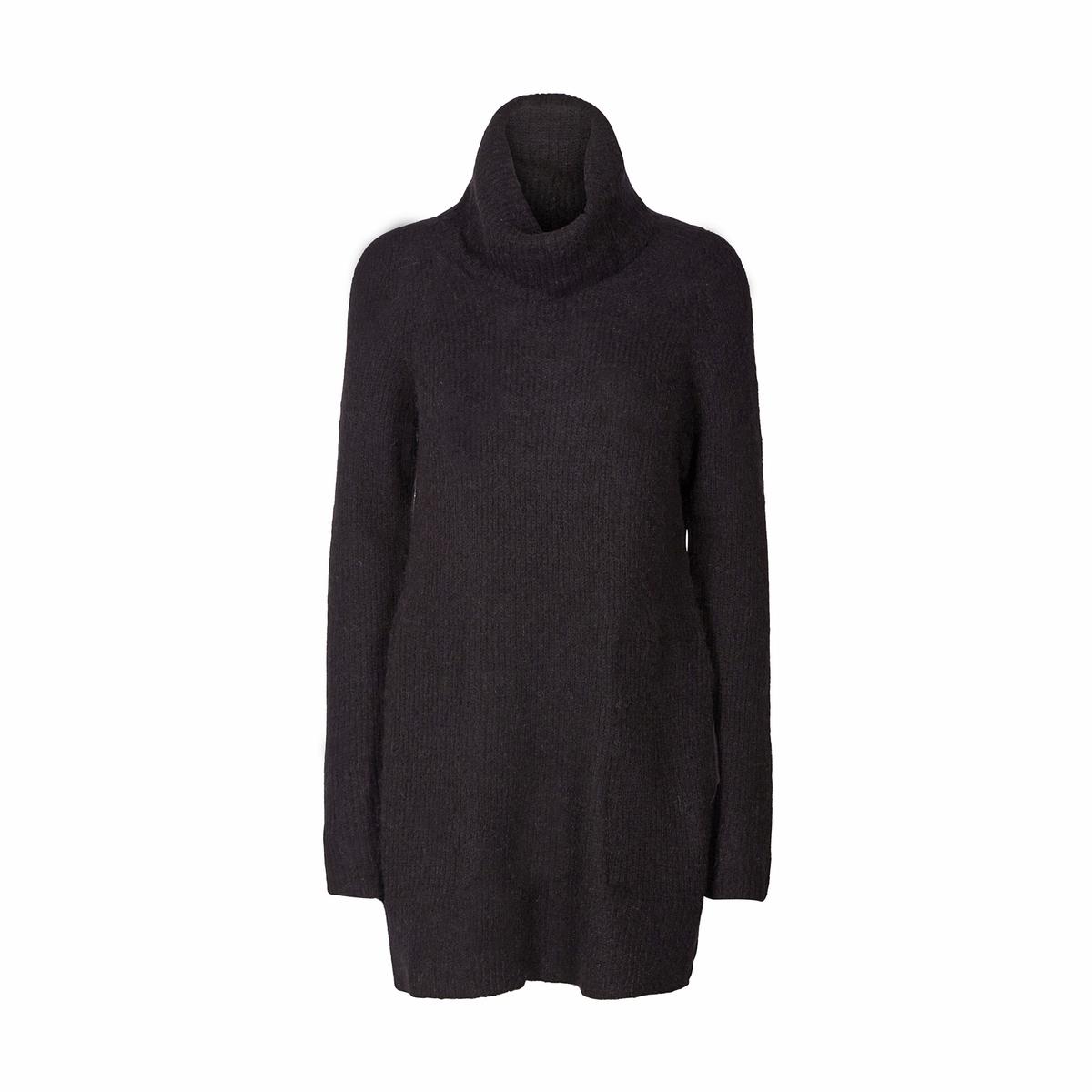 Пуловер с воротником с отворотом из тонкого трикотажа пуловер свободный с воротником с отворотом plunkett