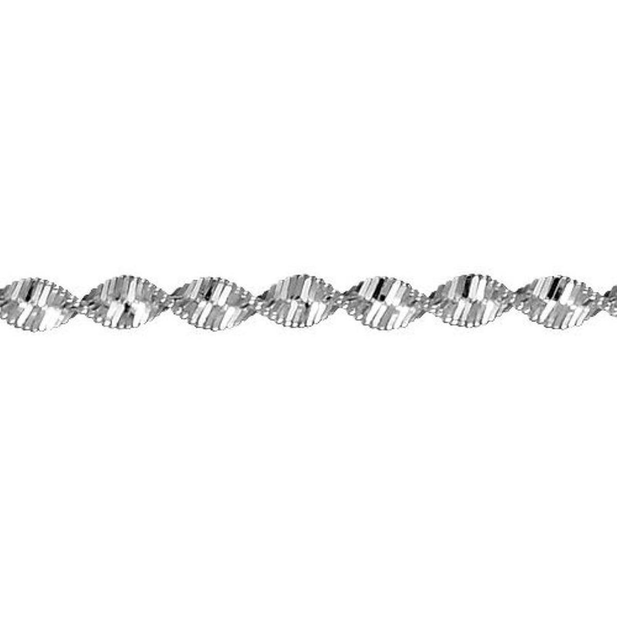 Bracelet 18 cm Maille Vrillée Argent 925