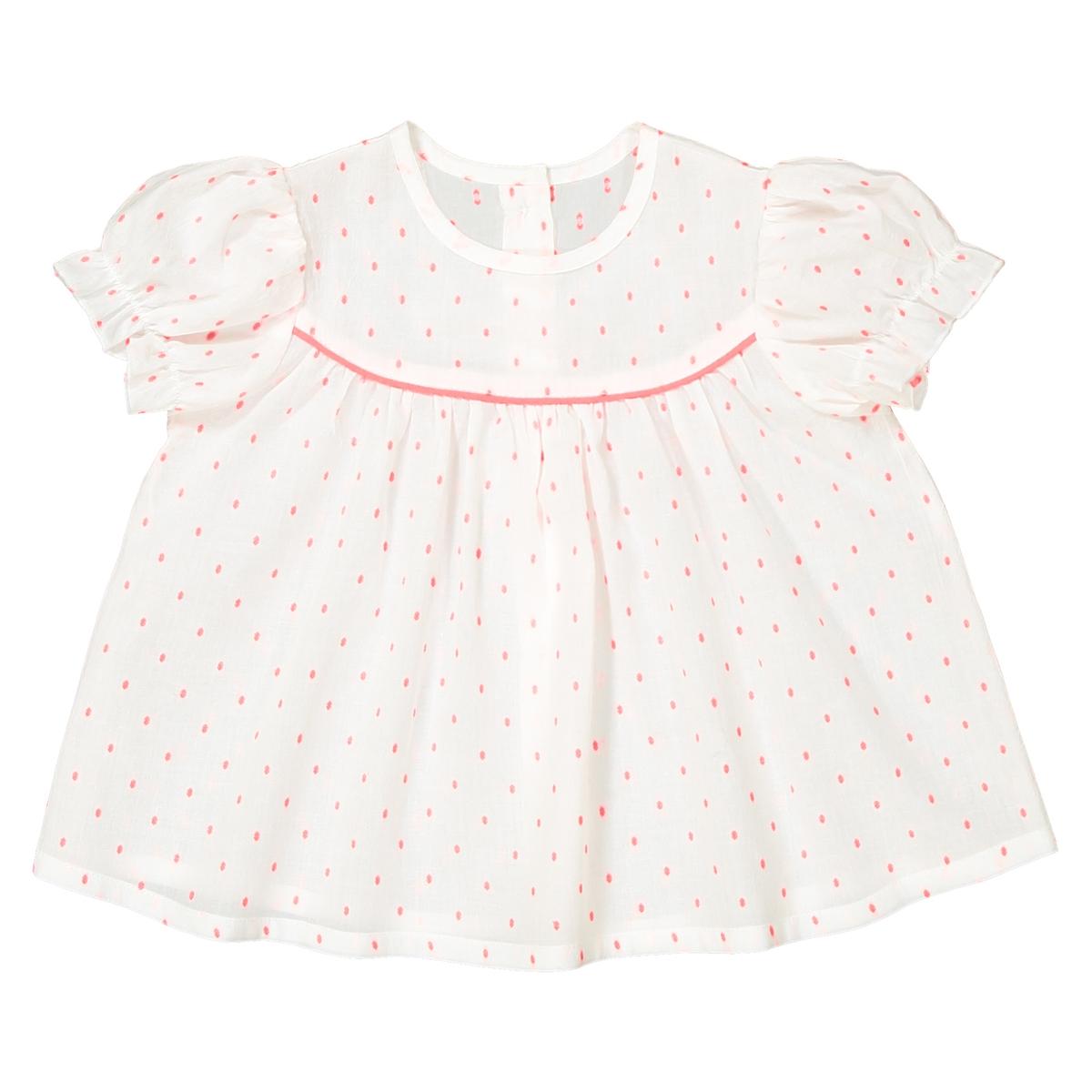 Блузка с короткими рукавами и рисунком, 1 мес. - 3 года