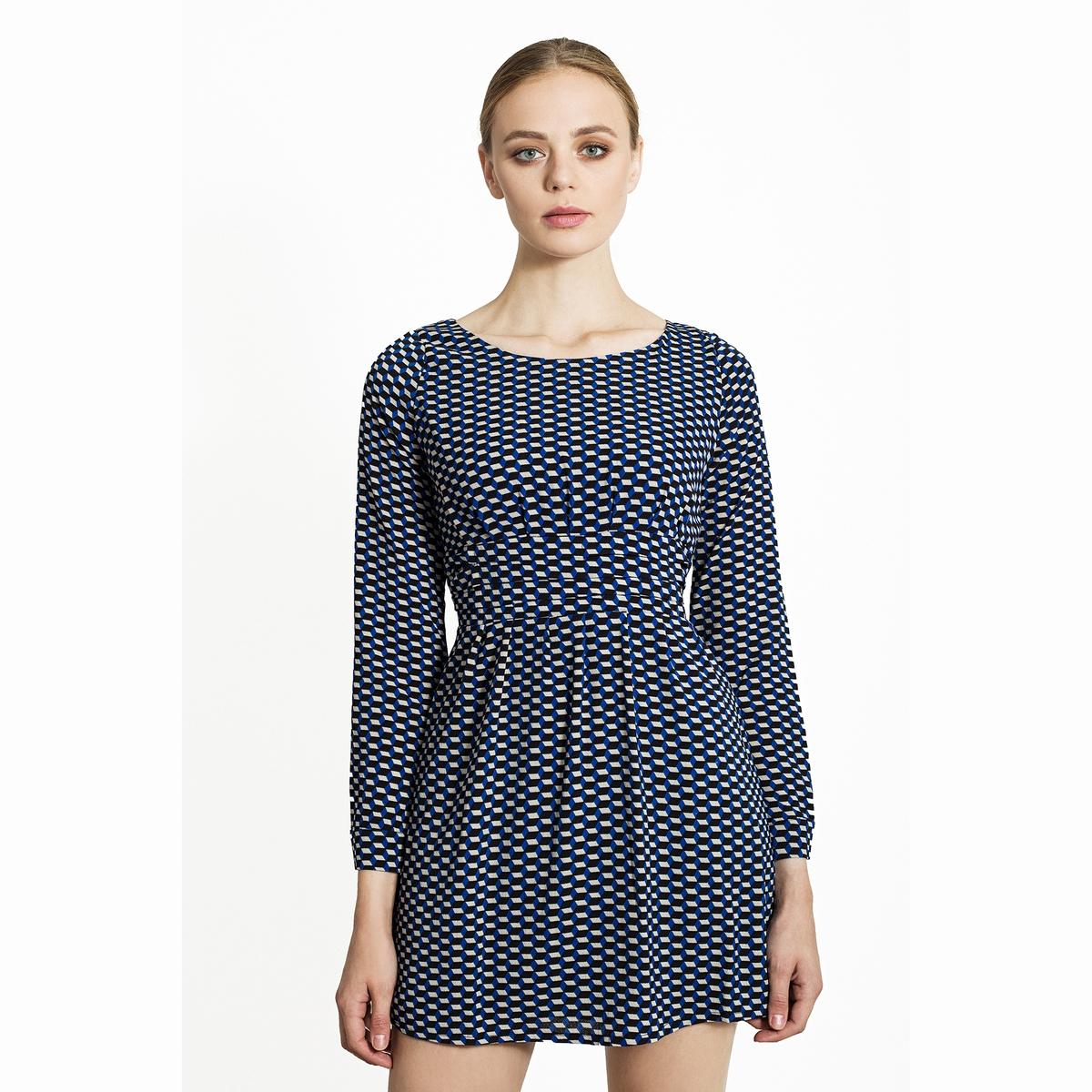 Платье короткое с рисунком платье с рисунком
