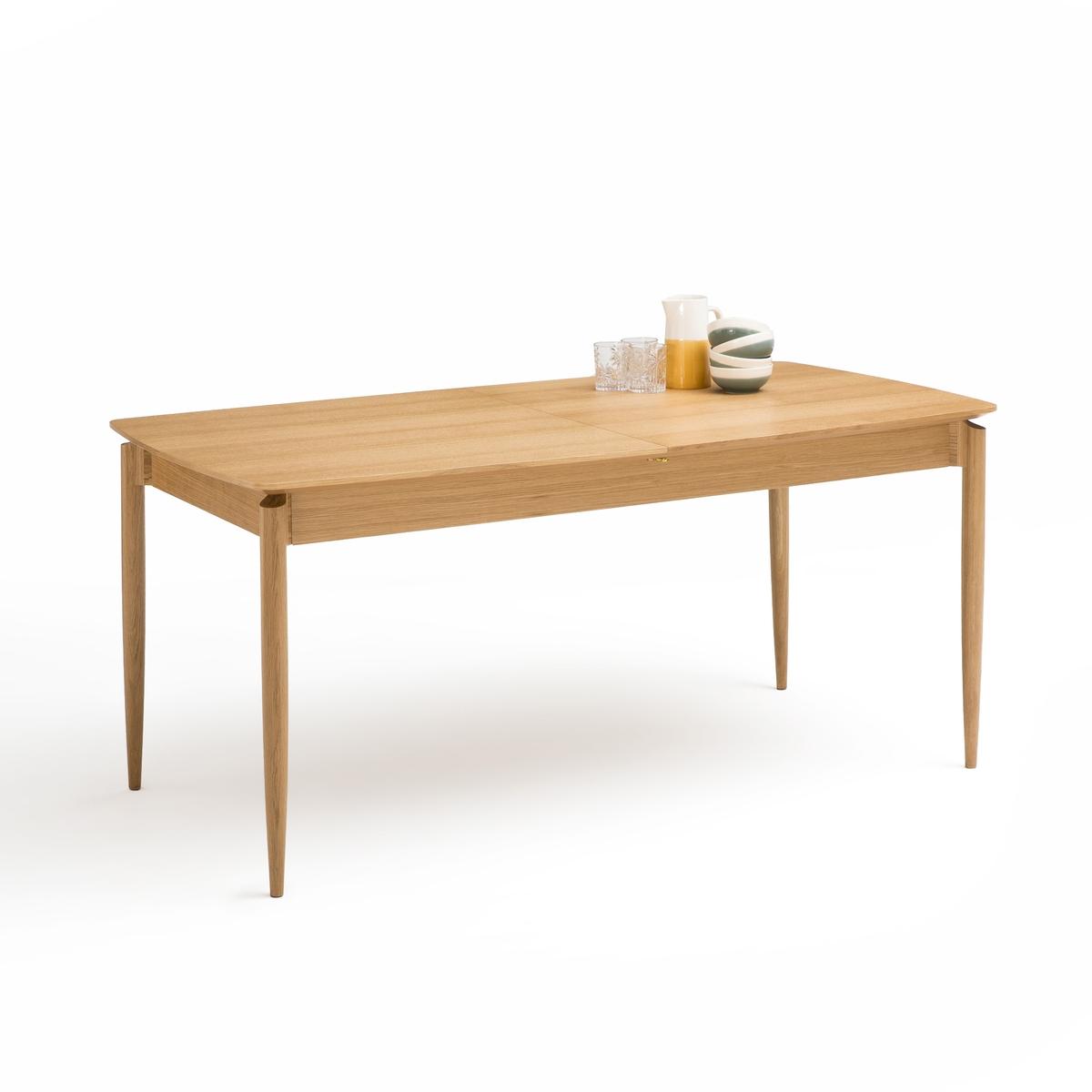 Стол LaRedoute Обеденный раздвижной на 6-8 персон Nochy 8 персоны каштановый круглый laredoute стол на 4 8 персон authentic style 8 персоны белый