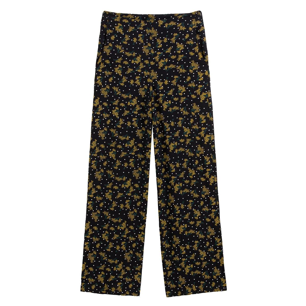 Pantalón ancho con estampado de flores