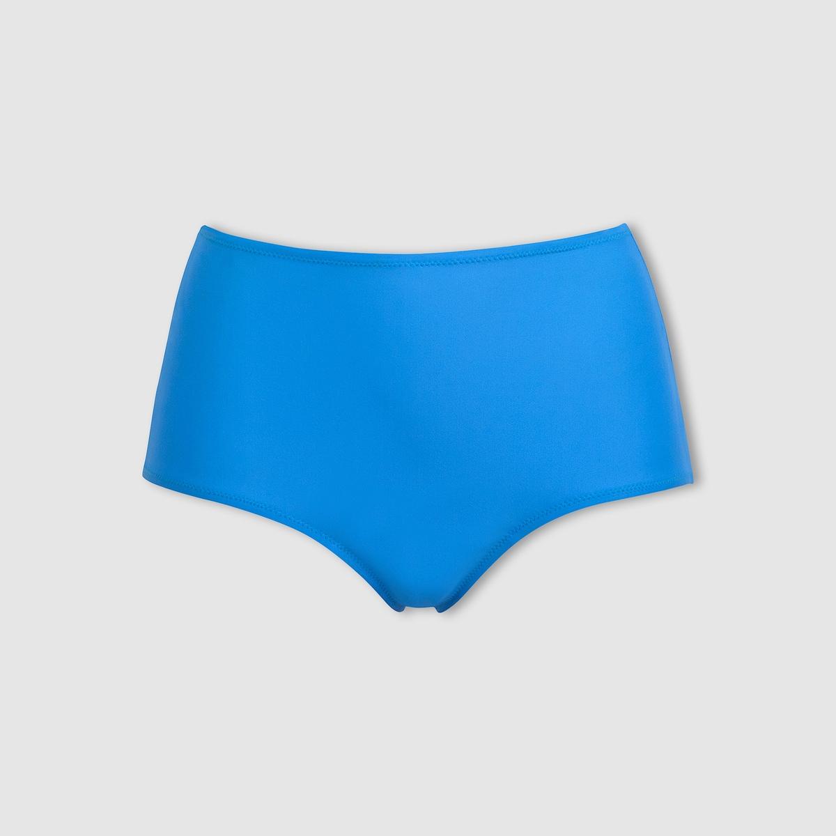 Трусы-плавки от купальника высокие, однотонные