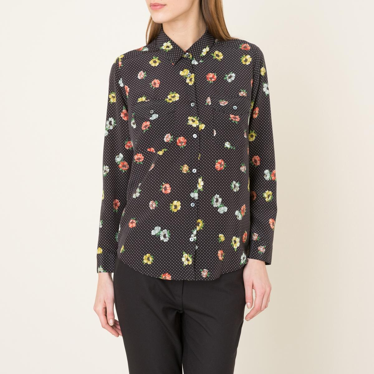 Рубашка из шелка с принтом the kooples шорты для плавания