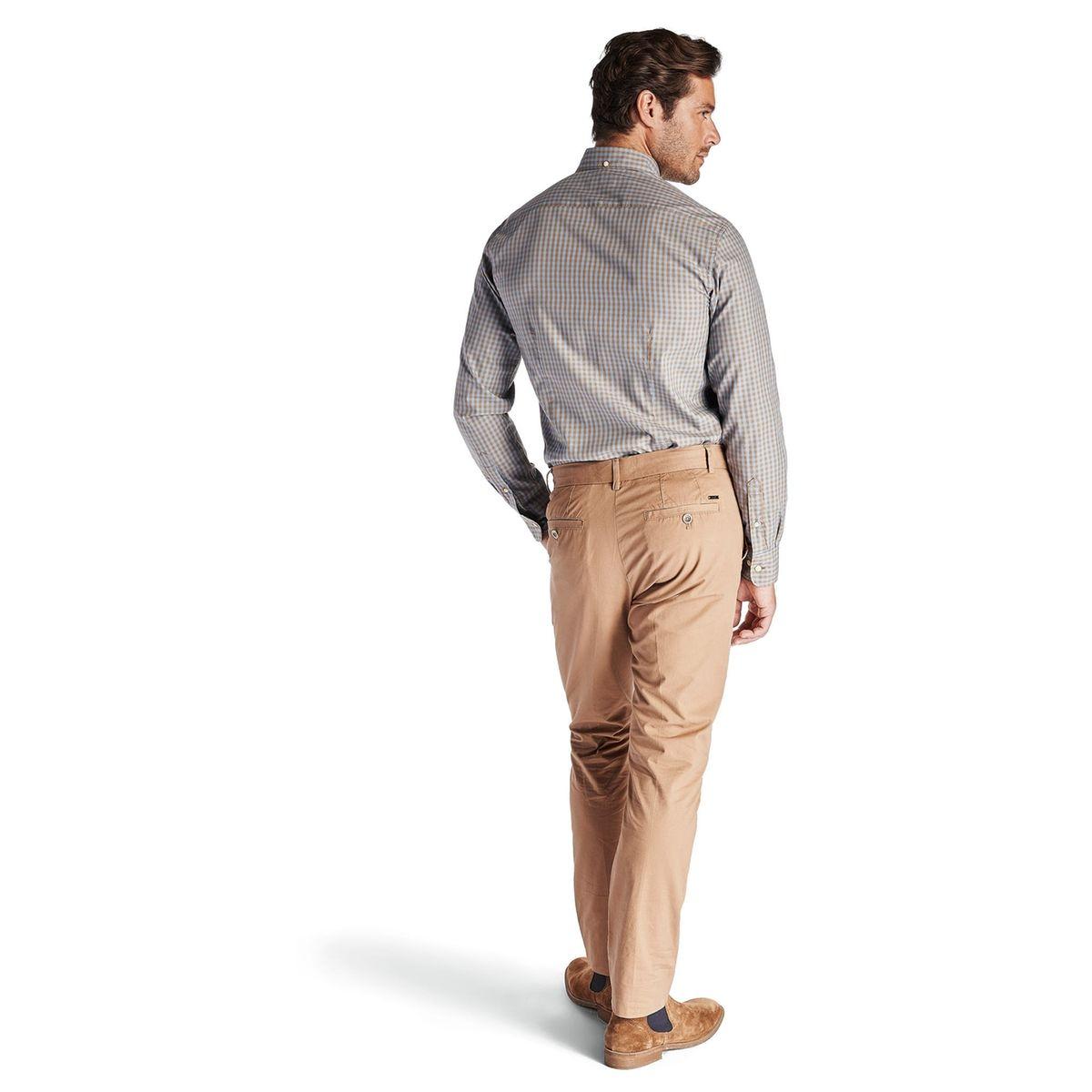 Chemise en coton à carreaux sportifs, boutonnée