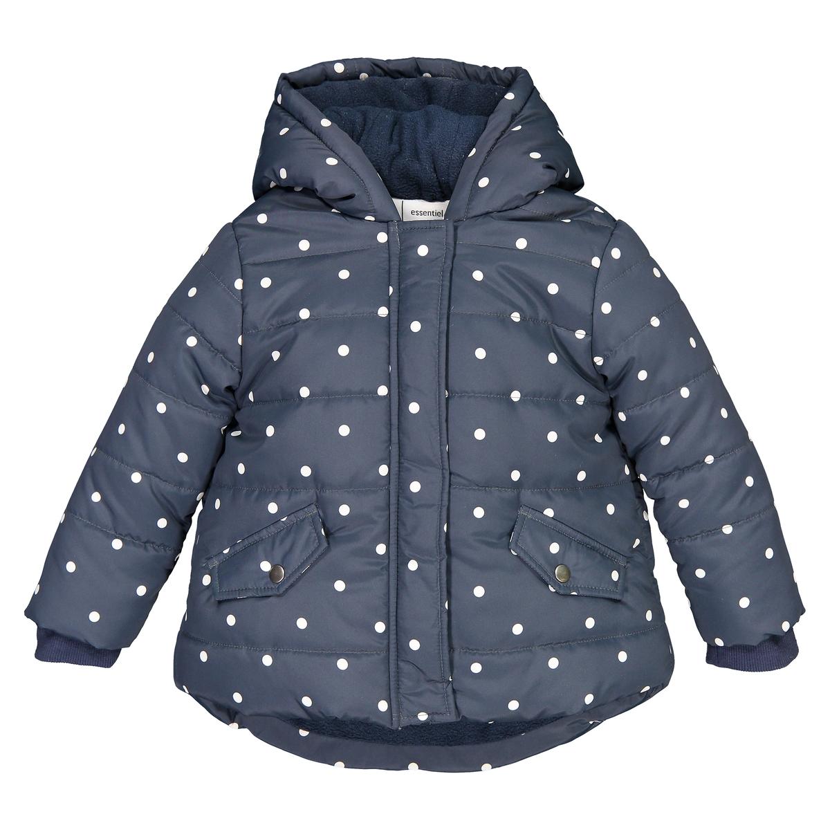 Куртка La Redoute В горошек на подкладке из флиса мес - года 1 год - 74 см синий куртка la redoute в горошек на подкладке из флиса мес года 1 мес 54 см синий