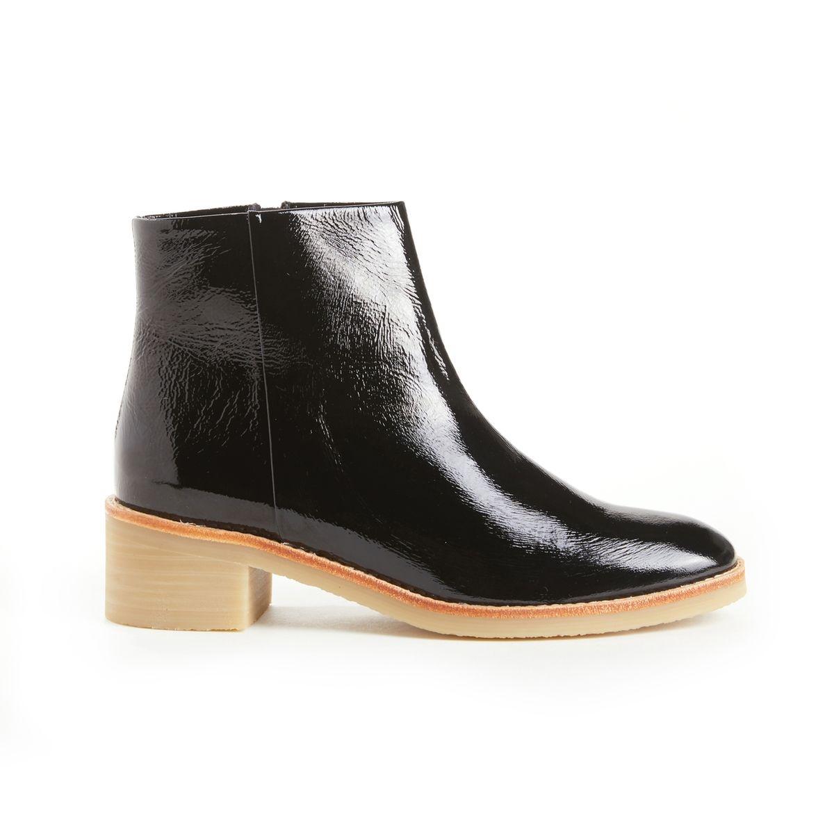 Boots en cuir verni ALPHONSE
