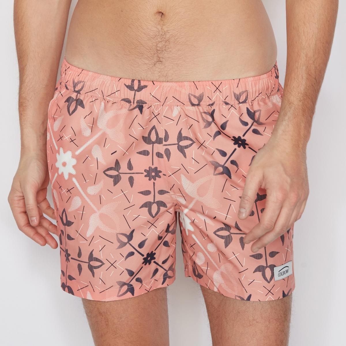 Шорты пляжные с рисунком шорты henry cotton s шорты
