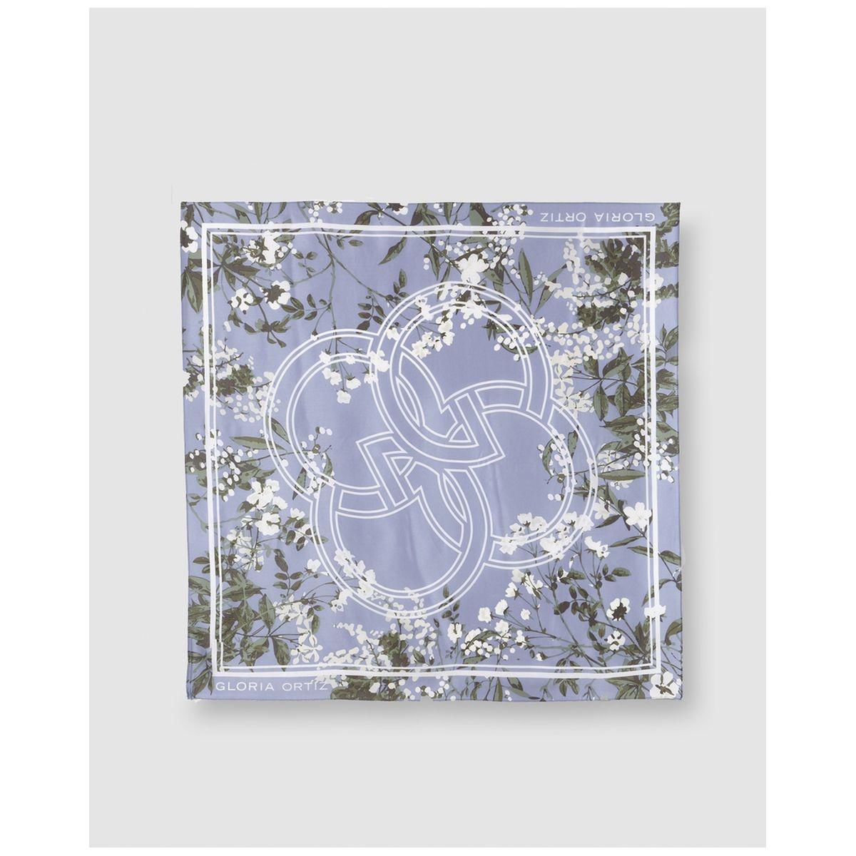 Foulard en soie imprimé à motif