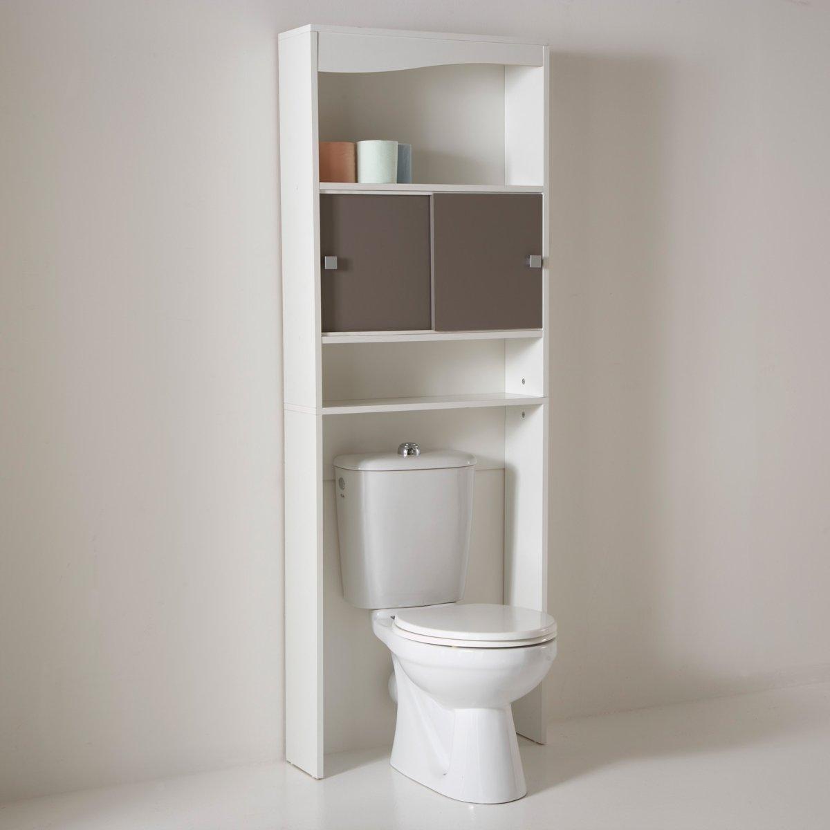 Полканад туалетомRoselbaПолка над туалетом или стиральной машинойRoselba устанавливается над туалетом или стиральной машиной для создания места для хранения, ощутимое в этом небольшом пространстве. Описание этажерки Roselba:- 3 ниши,1 из них закрывается на выдвижную дверцуОткройте для себя другие модели коллекции  Roselba на сайте laredoute.ru.Характеристики этажерки Roselba:-Отдельные панели, покрытые меланимом,толщиной 16 ммРазмеры этажерки Roselba:Общие :Длина 64 смВысота 178 смГлубина  16 смВнутренние размеры :Верхняя ниша 61 x 34,2 смНиша с дверцей61 x 34,2 см Нижняя ниша   61 x 15,3 смРазмеры и вес ящика : - Размер : 92,2 x 144,2 x 11,7 см.- Вес : 15 кг.Доставка :Поставляется в разобранном виде . Возможна доставка до квартиры !Внимание ! Убедитесь, что посылку возможно доставить на дом, учитывая ее габариты.<br><br>Цвет: белый/ серо-коричневый