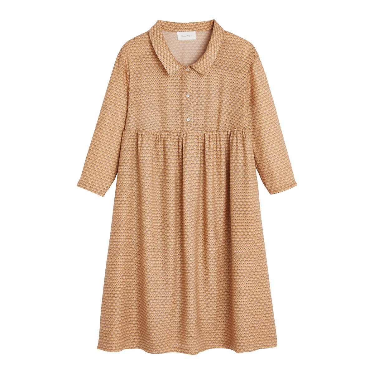 цена Платье La Redoute С рукавами и поясом со сборками DORABIRD M/L желтый онлайн в 2017 году