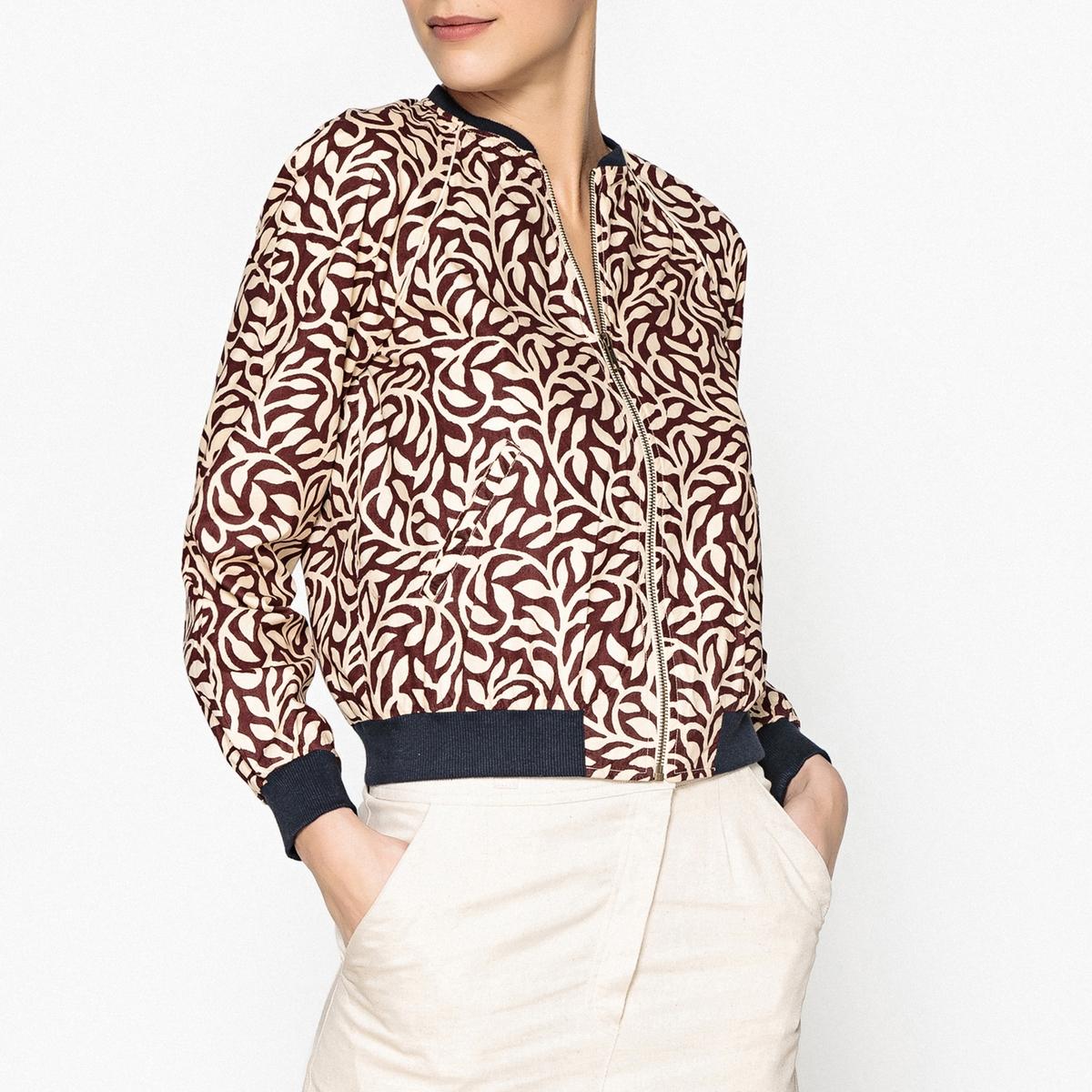 Жакет-бомбер с рисунком JASONОписание:Короткий женский блузон из ткани с рисунком S?UR - модель JASON. Карманы по бокам, застежка на молнию. Контрастные края.Детали •  На молнии •  Приталенный покрой •   Без воротника •  Рисунок-принтСостав и уход •  100% хлопок •  Следуйте рекомендациям по уходу, указанным на этикетке изделия<br><br>Цвет: бордовый