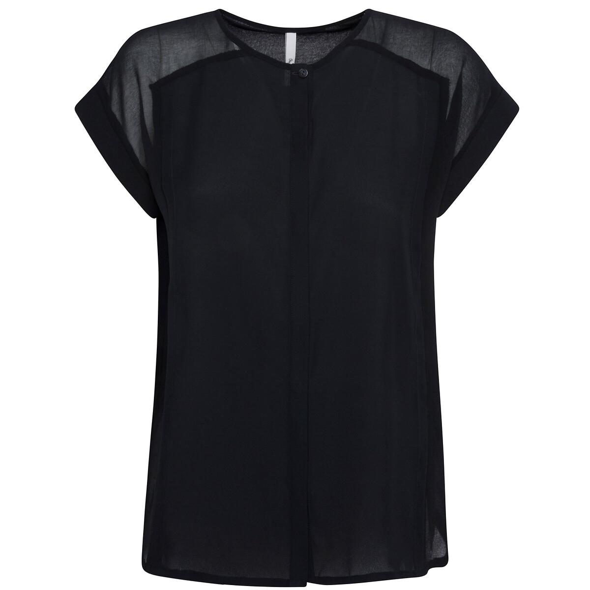 Blusa de magna corta con detalles en los hombros