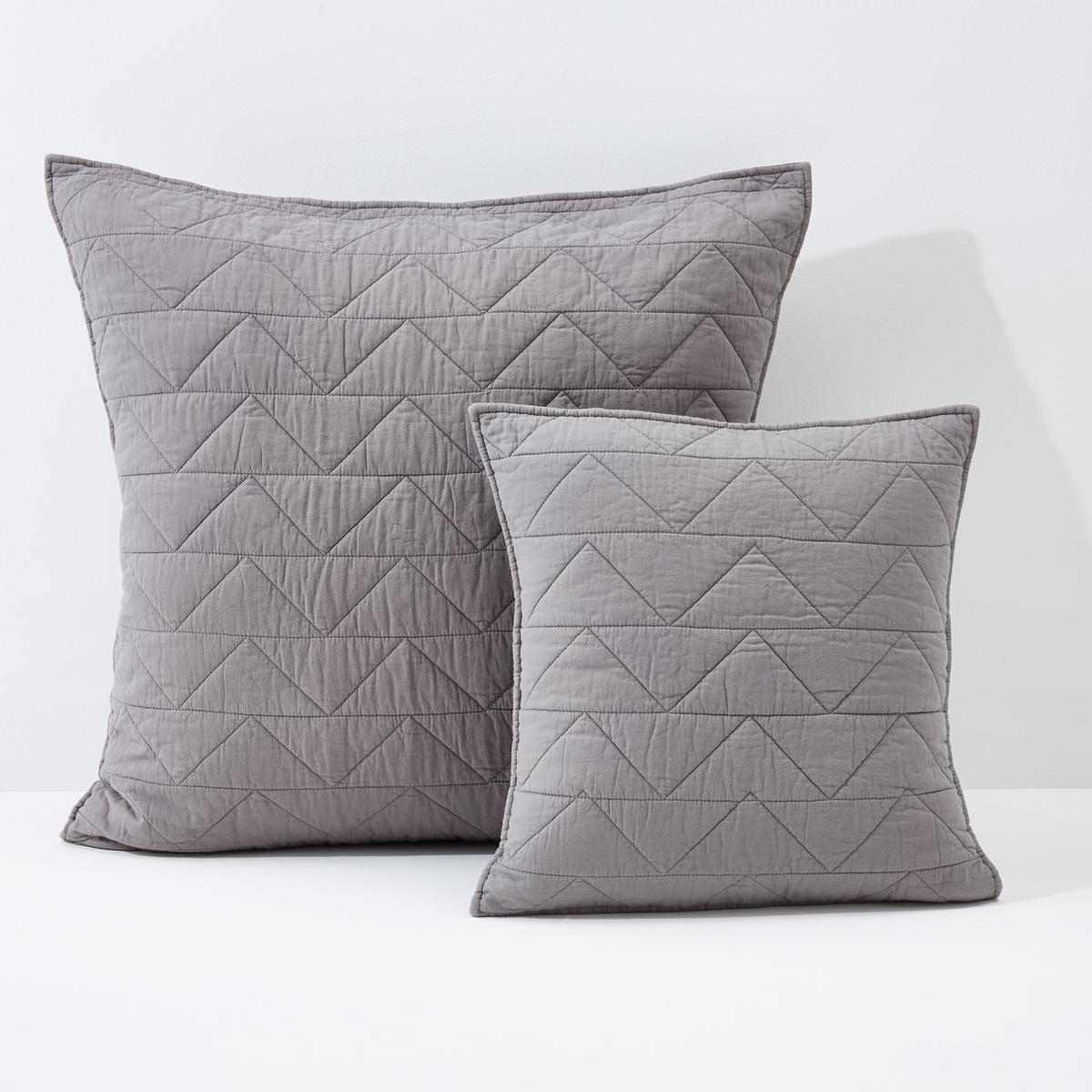 лучшая цена Чехол La Redoute На подушку наволочка Zig-zag 40 x 40 см серый