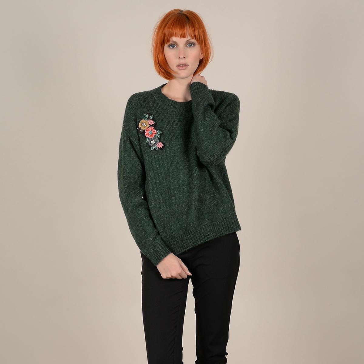 Пуловер La Redoute С круглым вырезом из тонкого трикотажа XS/S зеленый цены