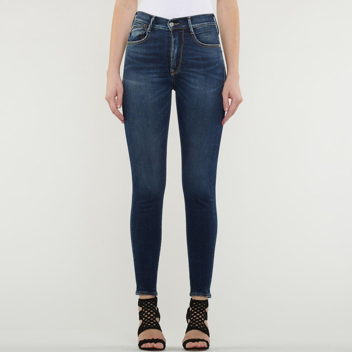 Jeans skinny, cintura subida