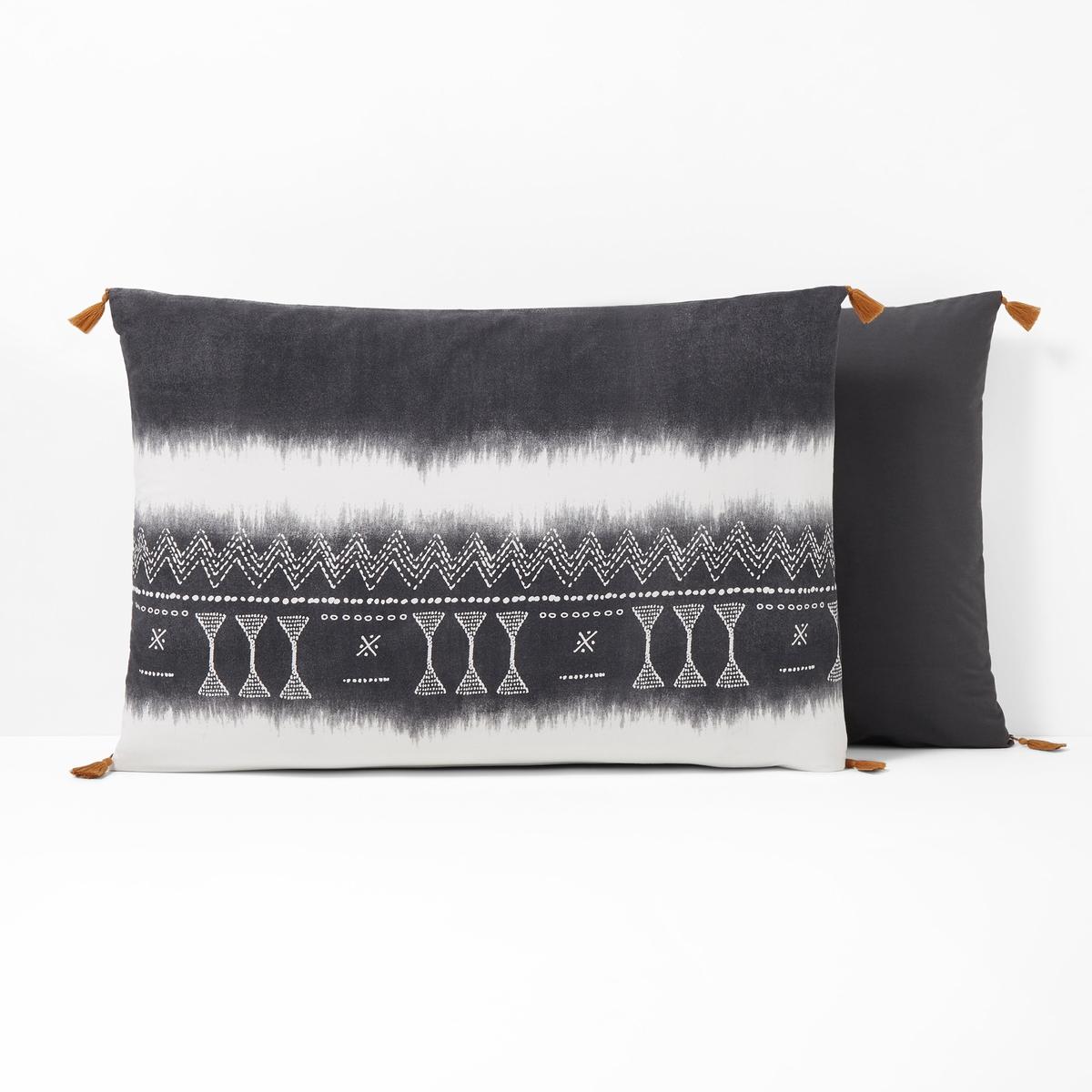 Fronha de almofada, em algodão lavado, YORUBA