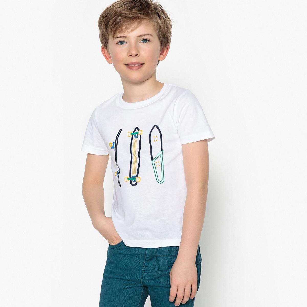 Футболка с рисунком скейтборды, 3-12 лет футболка с рисунком собака 3 14 лет