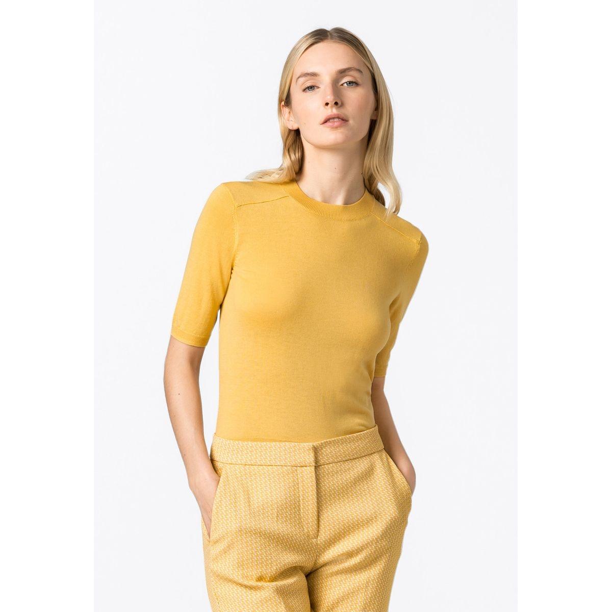 Pull-over à manches courtes en laine mérinos