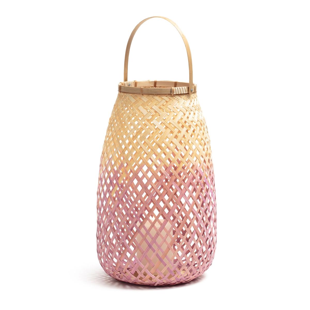 Lanterna bambù rosa/naturale, CORDO